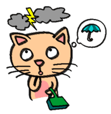 Milky the curious cat sticker #149094