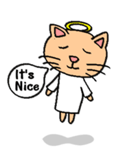 Milky the curious cat sticker #149098