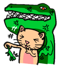 Milky the curious cat sticker #149110