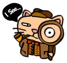 Milky the curious cat sticker #149116