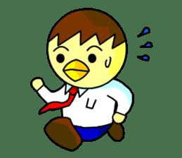 """An egg office worker """"Tama-Sara"""" sticker #149325"""