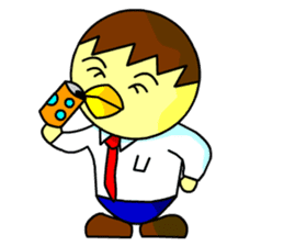 "An egg office worker ""Tama-Sara"" sticker #149329"