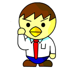 "An egg office worker ""Tama-Sara"" sticker #149332"