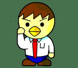 """An egg office worker """"Tama-Sara"""" sticker #149332"""