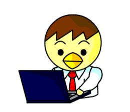 "An egg office worker ""Tama-Sara"" sticker #149337"