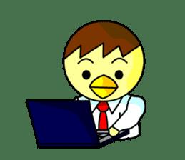 """An egg office worker """"Tama-Sara"""" sticker #149337"""