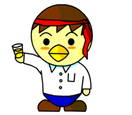 "An egg office worker ""Tama-Sara"" sticker #149338"