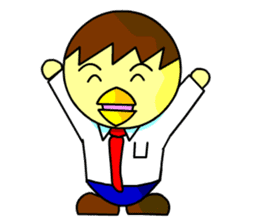 "An egg office worker ""Tama-Sara"" sticker #149341"