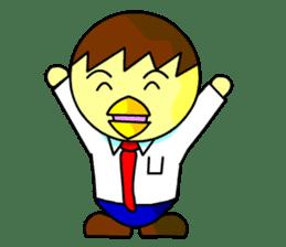 """An egg office worker """"Tama-Sara"""" sticker #149341"""
