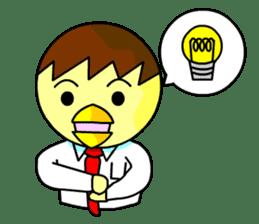 """An egg office worker """"Tama-Sara"""" sticker #149342"""