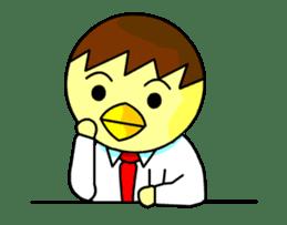 """An egg office worker """"Tama-Sara"""" sticker #149347"""