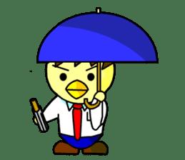 """An egg office worker """"Tama-Sara"""" sticker #149355"""