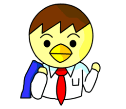 "An egg office worker ""Tama-Sara"" sticker #149356"