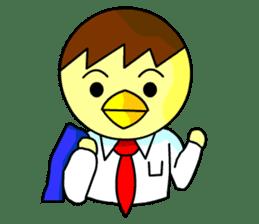 """An egg office worker """"Tama-Sara"""" sticker #149356"""