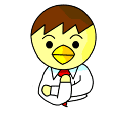"An egg office worker ""Tama-Sara"" sticker #149358"