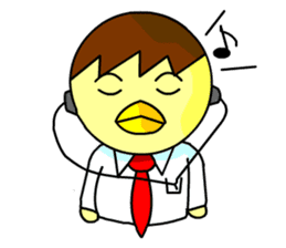 "An egg office worker ""Tama-Sara"" sticker #149361"