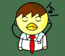 """An egg office worker """"Tama-Sara"""" sticker #149361"""