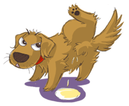 Dodimon: The Cheeky Golden Retrievers sticker #150287