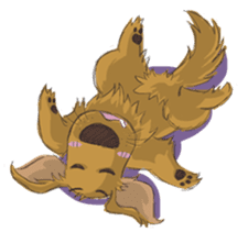 Dodimon: The Cheeky Golden Retrievers sticker #150288