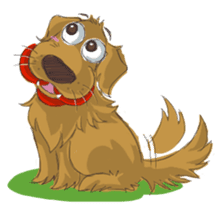 Dodimon: The Cheeky Golden Retrievers sticker #150290