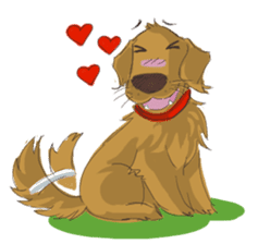 Dodimon: The Cheeky Golden Retrievers sticker #150299