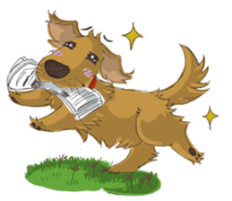 Dodimon: The Cheeky Golden Retrievers sticker #150316