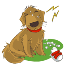 Dodimon: The Cheeky Golden Retrievers sticker #150317