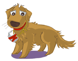 Dodimon: The Cheeky Golden Retrievers sticker #150322