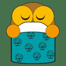 circle face1 owl sticker #150406