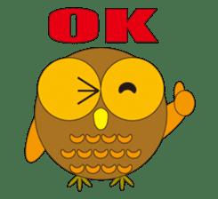 circle face1 owl sticker #150408