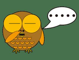 circle face1 owl sticker #150422