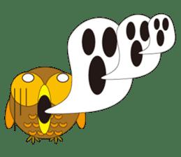 circle face1 owl sticker #150427