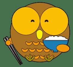 circle face1 owl sticker #150430