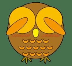 circle face1 owl sticker #150431