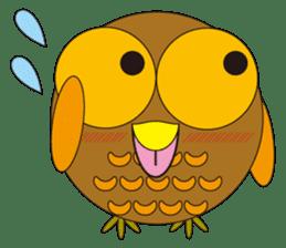 circle face1 owl sticker #150432