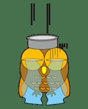 circle face1 owl sticker #150438