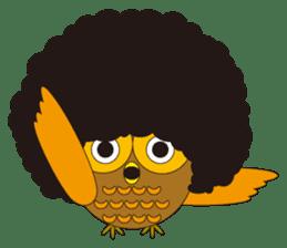 circle face1 owl sticker #150441