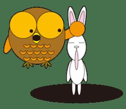 circle face1 owl sticker #150442