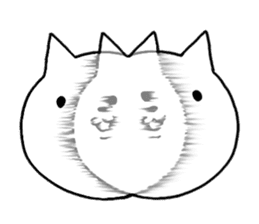 Head of white cat. sticker #151950