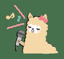 Alpaca girls sticker #155365