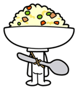 Fried rice cha-san sticker #155955
