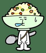 Fried rice cha-san sticker #155962