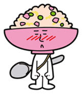 Fried rice cha-san sticker #155964