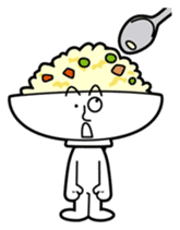 Fried rice cha-san sticker #155973