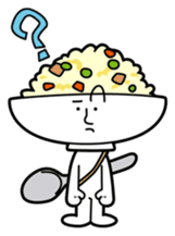 Fried rice cha-san sticker #155977