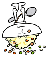 Fried rice cha-san sticker #155983