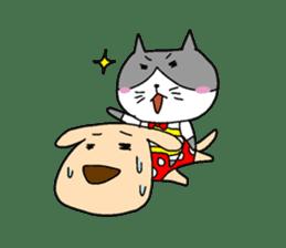 Cat and Dog sticker #156359
