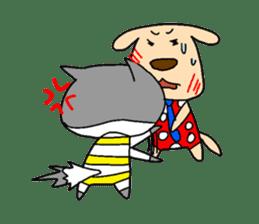 Cat and Dog sticker #156360