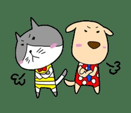 Cat and Dog sticker #156363