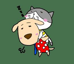 Cat and Dog sticker #156365